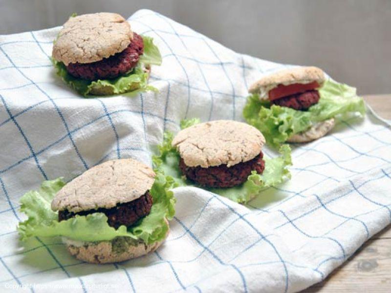 """Veganskt """"hamburgerbröd"""""""